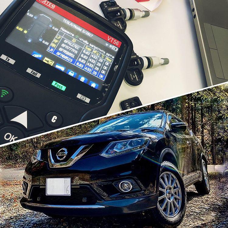 Установка датчиков давления в шинах для Nissan X-Trail