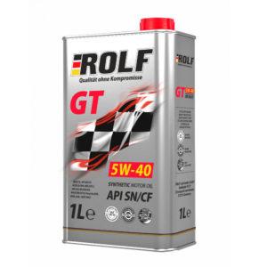 Масло моторное синтетическое Rolf GT SAE 5W-40 API SN/CF 1л