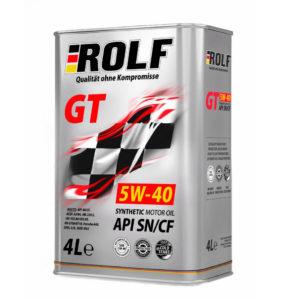 Масло моторное синтетическое Rolf GT SAE 5W-40 API SN/CF 4л