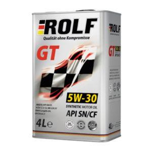 Масло моторное синтетическое Rolf GT SAE 5W-30 API SN/CF 4л