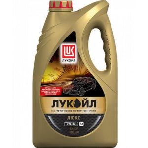 Моторное масло синтетика Лукойл Люкс SN/CF 5W-40 4л