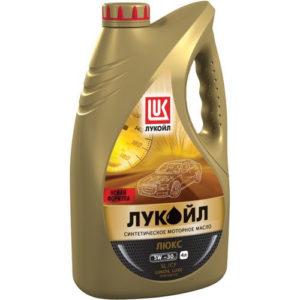 Моторное масло синтетика Лукойл Люкс SL/СF 5W-30 4л