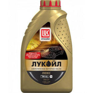 Моторное масло синтетика Лукойл Люкс SN/CF 5W-40 1л