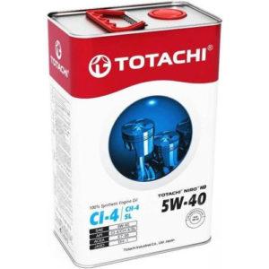 Моторное масло синтетика TOTACHI Niro HD API CI-4 SL 5W-40 4л