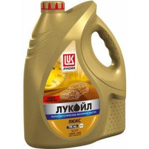 Моторное масло полусинтетика Лукойл Люкс SL/CF 5W-40 5л