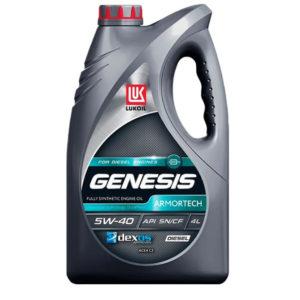 Моторное масло синтетика Лукойл GENESIS ARMORTECH DIESEL 5W-40 к 4л