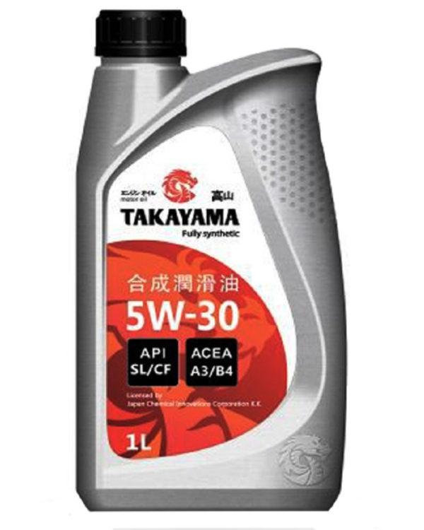 Масло моторное синтетическое TAKAYAMA SAE 5W-30, API SL/CF 1л пластик