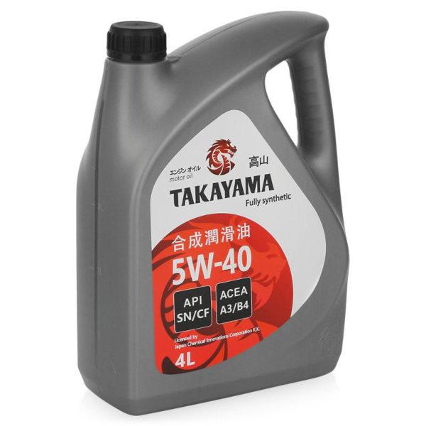 Масло моторное TAKAYAMA  SAE 5W-40, API SN/CF  4л пластик