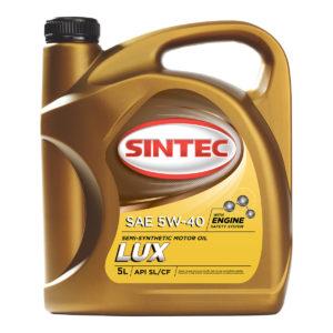 Моторное масло Sintec Люкс SAE 5W-40 API SL/CF 5л полусинтетика