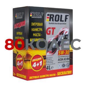 Масло моторное ROLF GT SAE 5W-30 ACEA A3/B4 4л Акция 4+1